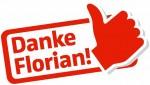 Logo 'Danke Florian'