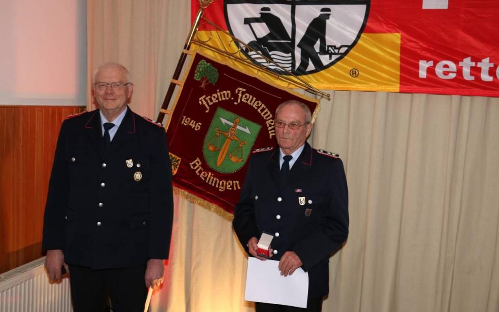 Heinz-Georg Runge und Hermann Reichenberg wurden für 50 Jahre Mitgliedschaft geehrt