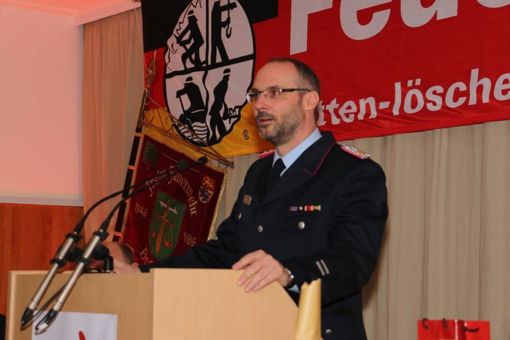 Der stellvertretende Gemeindebrandmeister Jens Kahlmeyer