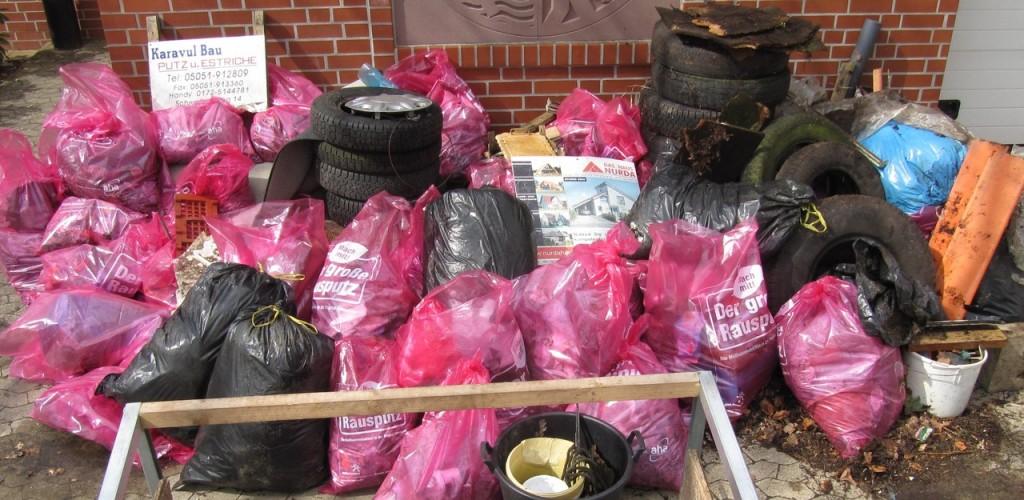 Der 2013 gesammelte Müll